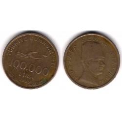 (1078) Turquía. 1999. 100000 Lira (BC)