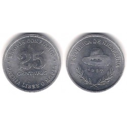 (55) Nicaragua. 1987. 25 Centavos (EBC+)