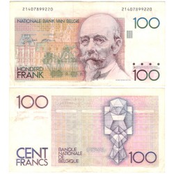 (142a) Bélgica. 1982-94. 100 Francs (MBC)