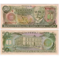 (257a) Costa Rica. 1992. 50 Colones (SC)