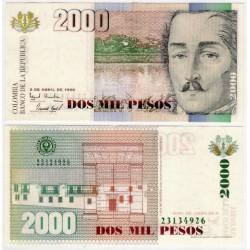 (445a) Colombia. 1996. 2000 Pesos (SC)