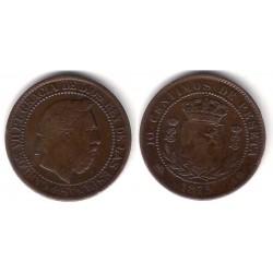 Carlos VII. 1875. 10 Céntimos (MBC) Ceca de Bélgica