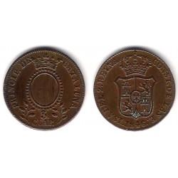 Isabel II. 1846. 3 Cuartos (EBC+) Ceca de Cataluña