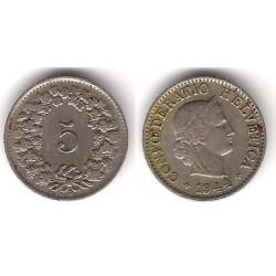 (26) Suiza. 1944. 5 Rappen (BC)