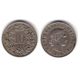 (27) Suiza. 1925. 10 Rappen (BC+)