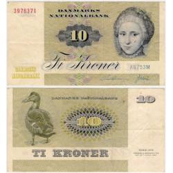 (48e) Dinamarca. 1975. 10 Kroner (MBC)