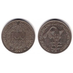 (4) Estados África Oeste. 1969. 100 Francs (MBC)