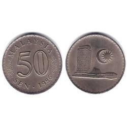 (5.3) Malasia. 1986. 50 Sen (SC)