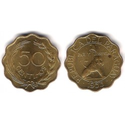 (28) Paraguay. 1953. 50 Centimos (SC)