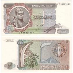 (19a) Zaire. 1979. 1 Zaire (SC)