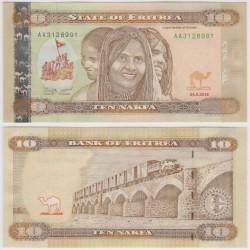 (12) Eritrea. 2012. 10 Nafka (SC)