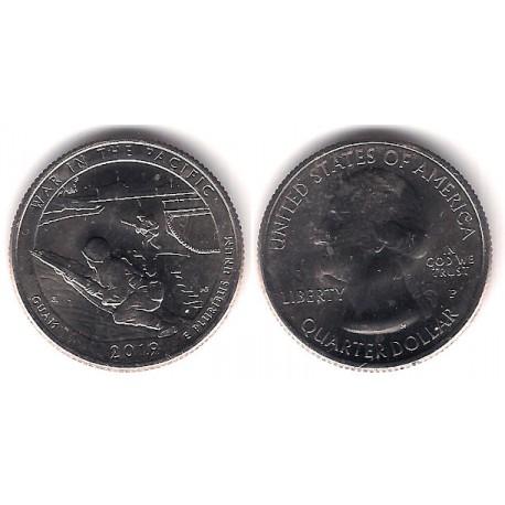 Estados Unidos de América. 2019(P). Quarter Dollar (SC) War in the Pacific