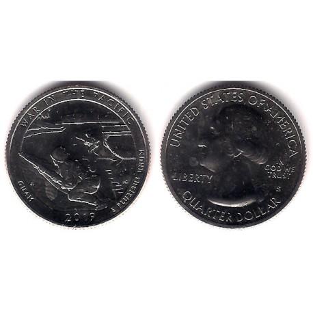 Estados Unidos de América. 2019(S). Quarter Dollar (SC) War in the Pacific