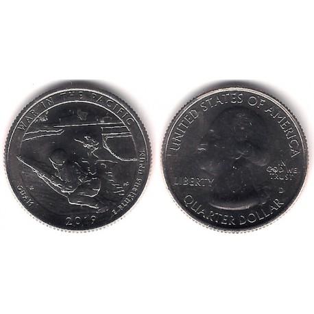 Estados Unidos de América. 2019(D). Quarter Dollar (SC) War in the Pacific