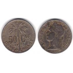 (21) Congo Belga. 1923. 50 Centimes (BC+)