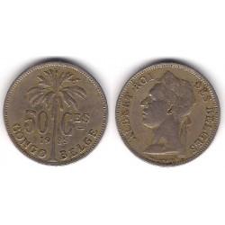 (22) Congo Belga. 1925. 50 Centimes (MBC)