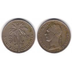 (23) Congo Belga. 1925. 50 Centimes (MBC)