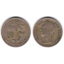 (22) Congo Belga. 1927. 50 Centimes (MBC)