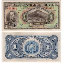 (118a) Bolivia. 1928. 1 Boliviano (SC)