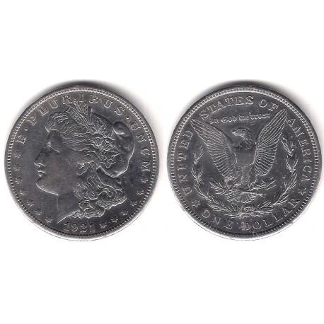 (110) Estados Unidos de América. 1921(S). 1 Dollar (MBC+) (Plata)