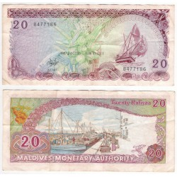 (12b) Maldivas. 1987. 20 Rufiyaa (MBC)