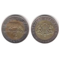 (38) Letonia. 1999. 2 Lati (EBC)