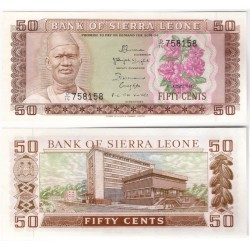 (4e) Sierra Leona. 1984. 50 Cents (SC)