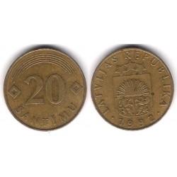 (22) Letonia. 1992. 20 Santimu (BC+)