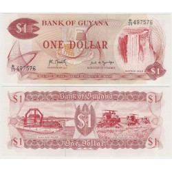 (21g) Guyana. 1966-92. 1 Dollar (SC)