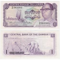 (4g) Gambia. 1972-86. 1 Dalasi (SC)