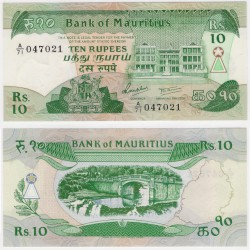 (35b) Mauricio. 1985. 10 Rupees (SC)