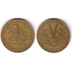 (5) Estados África Oeste. 1970. 25 Francs (BC)