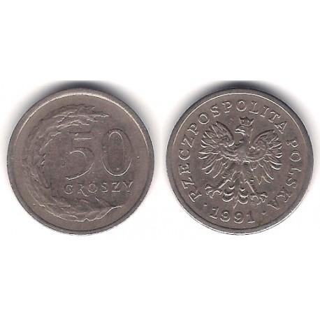 (Y281) Polonia. 1991. 50 Groszy (MBC)