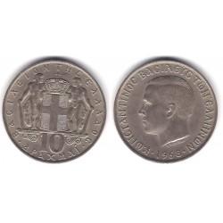(96) Grecia. 1968. 10 Drachma (MBC)
