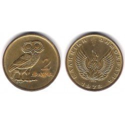 (108) Grecia. 1973. 2 Drachma (EBC)