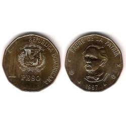 (80.3) República Dominicana. 1997. 1 Peso (SC)