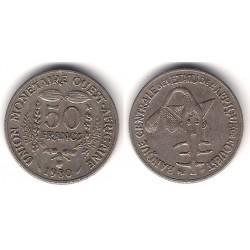 (6) Estados África Oeste. 1980. 50 Francs (MBC)