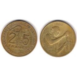 (9) Estados África Oeste. 1980. 25 Francs (MBC-)