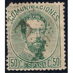 (126) 1872. 50 Céntimos. Amadeo I (Usado)