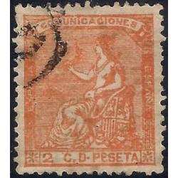 (131) 1873. 2 Céntimos. Alegoría de España (Usado)