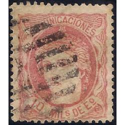 (105) 1870. 10 Mils. de Eº. Efigie Alegórica de España (Usado)