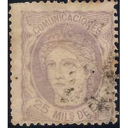 (106) 1870. 25 Mils. de Eº. Efigie Alegórica de España (Usado)