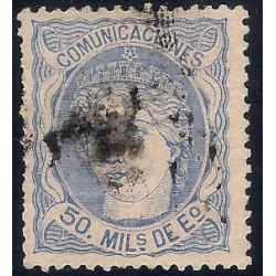 (107) 1870. 50 Mils. de Eº. Efigio Alegórica de España (Usado)