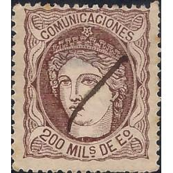 (109) 1870. 200 Mils. de Eº. Efigie Alegórica de España (Usado)
