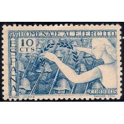 (887) 1939. 10 Céntimos. Homenaje al Ejército (Nuevo)