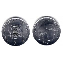 (46.2) Somalia. 2002. 5 Shillings (SC)