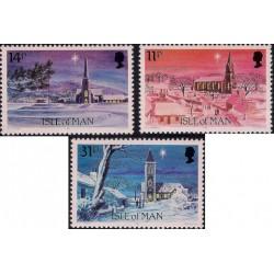 (294 a 296) Isla de Man. 1985. Serie Completa. Navidad (Nuevo)