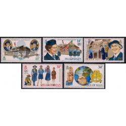 (276 a 280) Isla de Man. 1985. Serie Completa. 75 Aniv. Guías (Nuevo)