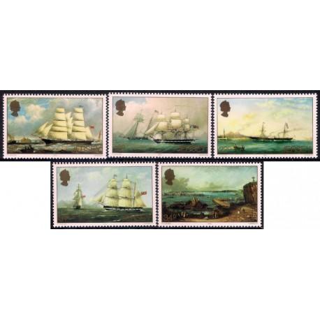 (348 a 352) Jersey. 1985. Serie Completa. Barcos (Nuevo)