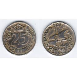 Alfonso XIII. 1925. 25 Céntimos (BC) Ceca de Madrid PC-S